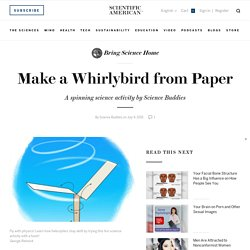 Make a Whirlybird from Paper