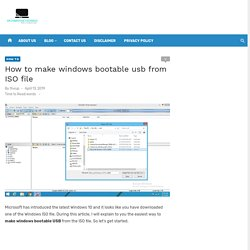 How to Make Windows Bootable USB from ISO