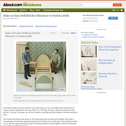 Make an Easy Wooden Doll Bed for a Dollhouse or Fashion Doll