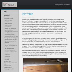 Make Your Own Adventure Blog - DIY tarp