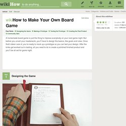 How to Make Your Own Board Game: 7 steps (with pictures)