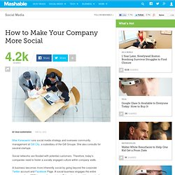 How to Make Your Company More Social