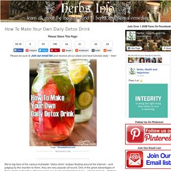 How To Make Your Own Daily Detox Drink