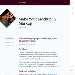 Make Your Mockup in Markup