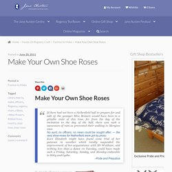 Make Your Own Shoe Roses