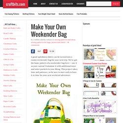 Make Your Own Weekender Bag