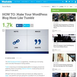 HOW TO: Make Your WordPress Blog More Like Tumblr