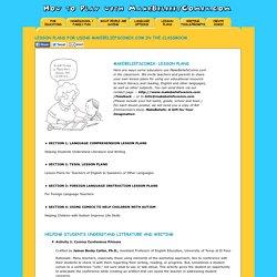 MakeBeliefsComix.com - Lesson Plans