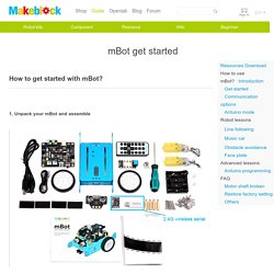 mBot get started