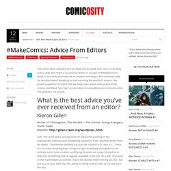 #MakeComics: Advice From Editors