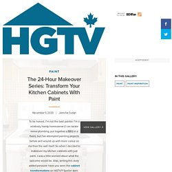The 24-Hour Makeover Series: Transform Your Kitchen Cabinets With Paint