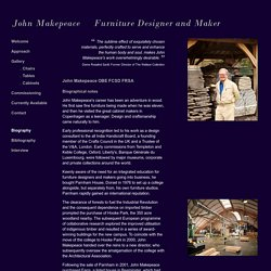 John Makepeace    Furniture Designer and Maker    Biography
