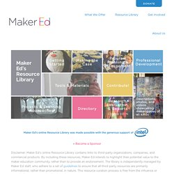Maker Ed's Resource Library