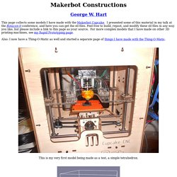 Makerbot Constructions --- George W. Hart