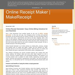 MakeReceipt: Online Receipt Generator: Easy Online Billing Solutions for your Business