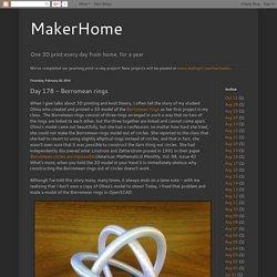 MakerHome: Day 178 - Borromean rings