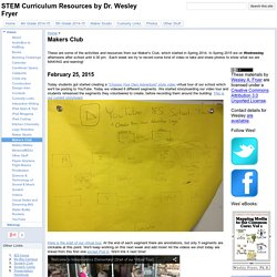 Makers Club - STEM Curriculum Resources by Dr. Wesley Fryer