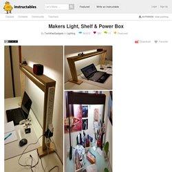 Makers Light, Shelf & Power Box: 4 Steps