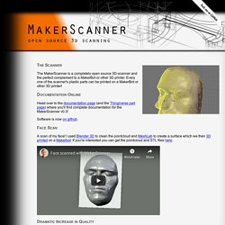 MakerScanner - open source 3d scanning