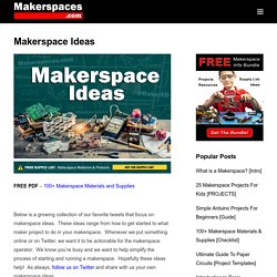 60+ Makerspace Ideas for Maker Education
