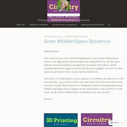 Some #MakerSpace Resources – Mattson's Musings