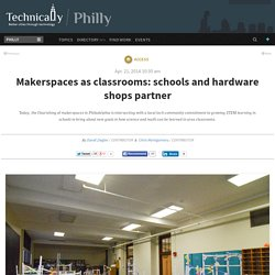 Makerspaces as classrooms: schools and hardware shops partner