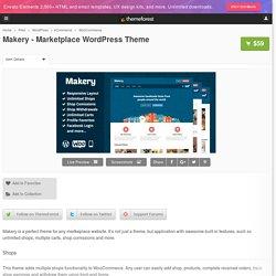 Makery - Marketplace WordPress Theme - WordPress