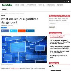 What makes AI algorithms dangerous?