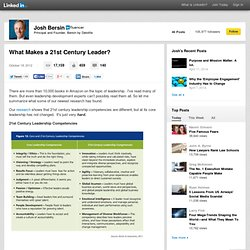 What Makes a 21st Century Leader?