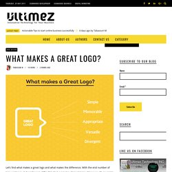 What Makes a Great Logo? What to consider while designing a logo?