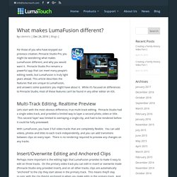 What makes LumaFusion different?