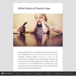 What Makes A Popular App