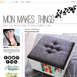 mon makes things: Storage Ottoman DIY