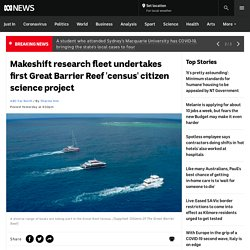 Makeshift research fleet undertakes first Great Barrier Reef 'census' citizen science project - ABC News