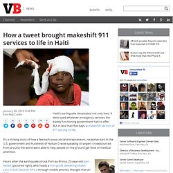 How a tweet brought makeshift 911 services to life in Haiti | Ve