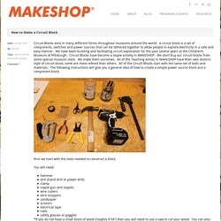MAKESHOP » How to Make a Circuit Block