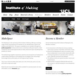 MakeSpace - Institute of Making
