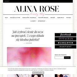 Alina Rose Makeup Blog: Jak wybrać cienie do oczu na początek. Z czego składa się idealna paletka?