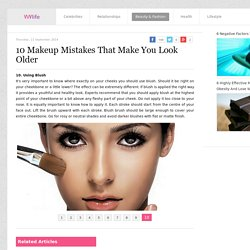 10 Makeup Mistakes That Make You Look Older - WoMeN's Life