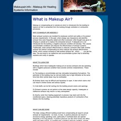 Makeupair.info - Makeup Air Heating Systems Information