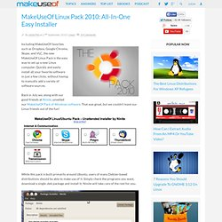 Linux Pack 2010: All-In-One Easy Installer
