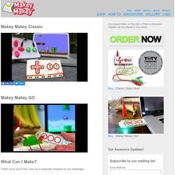 MaKey MaKey: An Invention Kit for Everyone (Official Site)