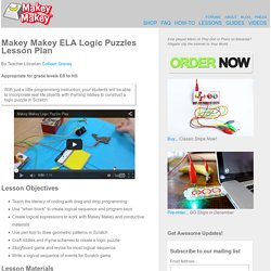 Makey Makey ELA Logic Puzzles Lesson Plan