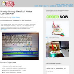 Makey Makey Musical Water Lesson Plan