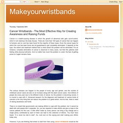 Show Your Support about Cancer with Rubber Wristbands