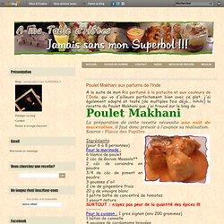 Poulet Makhani aux parfums de l'Inde - Jamais sans mon SUPERBOL!!