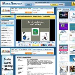 En iyi temizleme makineleri PowerPoint presentation
