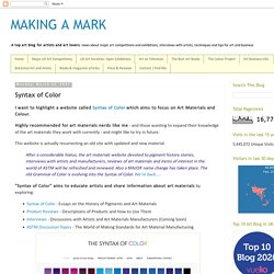 Syntax of Color