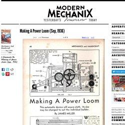 Making A Power Loom