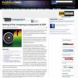 Analyzing Loudspeakers & DSP